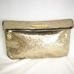 GOLD GLITTER BAG ViCTORIA SECRET COSMETIC TRAVEL